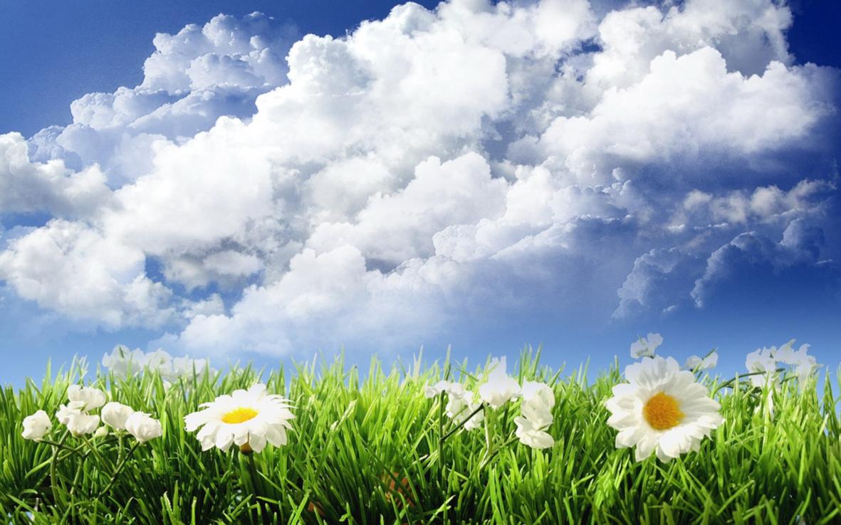 Открытка небо и солнце
